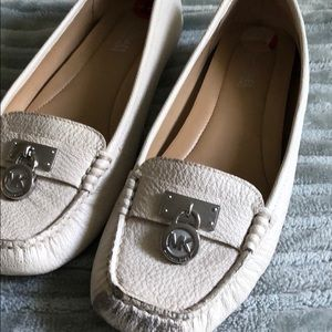 MK leather loafers